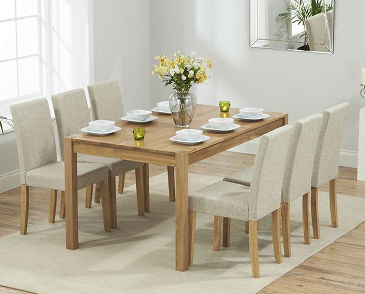 Best 25+ Oak Furniture Superstore Ideas On Pinterest | Solid Oak Intended For 2018 Oak Dining Tables And Fabric Chairs (Image 2 of 20)