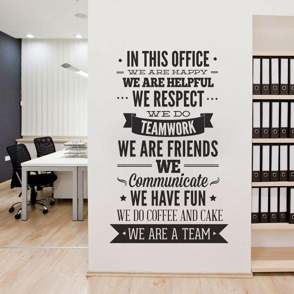 Best 25+ Office Wall Decals Ideas On Pinterest | Office Wall Art In Inspirational Wall Decals For Office (Image 2 of 20)