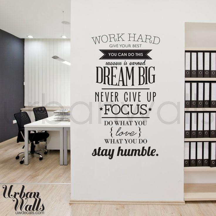 Best 25+ Office Wall Decals Ideas On Pinterest | Office Wall Art Within Inspirational  Wall