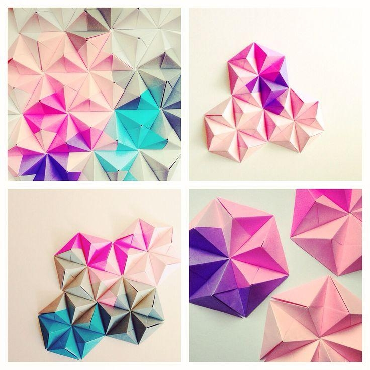 Best 25+ Origami Wall Art Ideas On Pinterest | Origami Decoration Intended For Diy Origami Wall Art (Image 3 of 20)