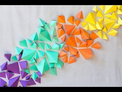 Best 25+ Origami Wall Art Ideas On Pinterest | Origami Decoration Pertaining To Diy Origami Wall Art (Image 5 of 20)