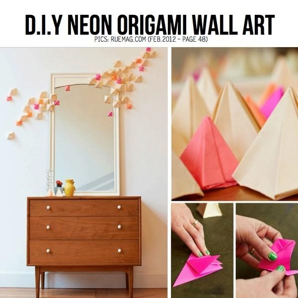 Best 25+ Origami Wall Art Ideas On Pinterest | Origami Decoration With Diy Origami Wall Art (Image 6 of 20)