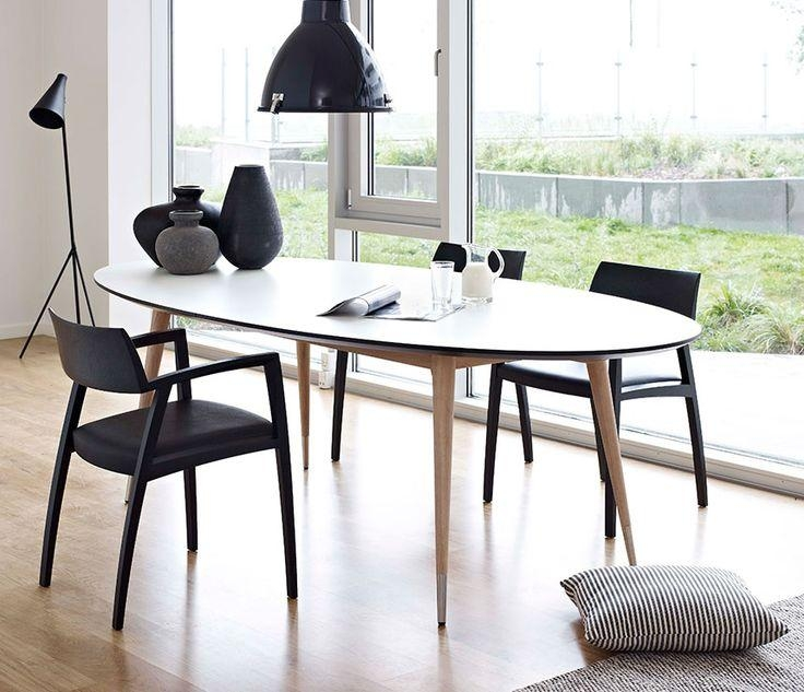 Best 25+ Oval Dining Tables Ideas On Pinterest | Oval Kitchen For Best And Newest Black Extending Dining Tables (View 17 of 20)