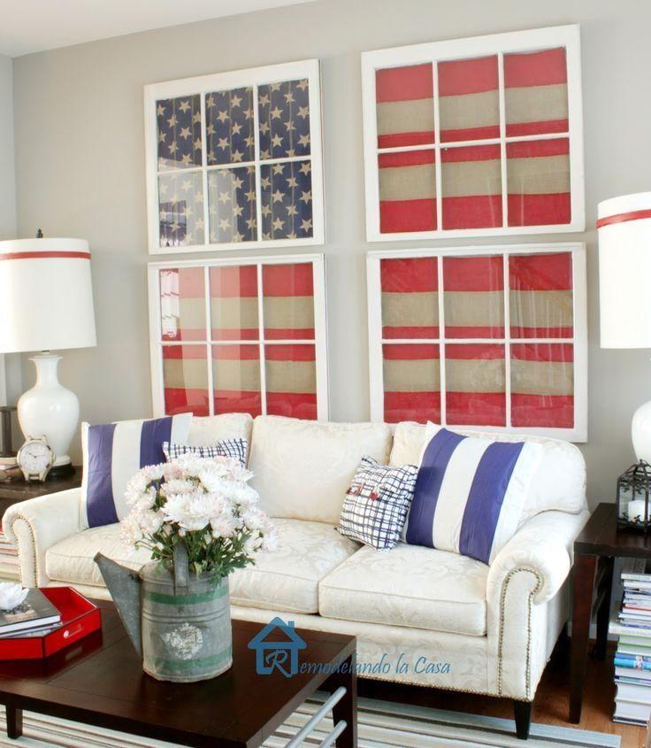 Best 25+ Patriotic Room Ideas On Pinterest | Patriotic Decorations Inside Red White And Blue Wall Art (Image 7 of 20)