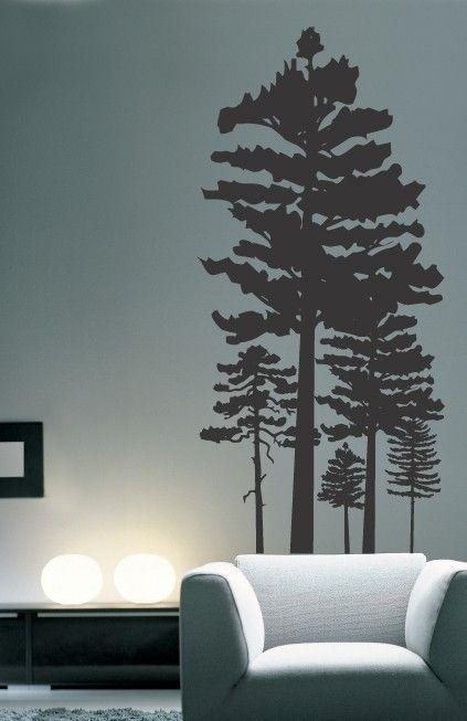 Best 25+ Pine Tree Silhouette Ideas On Pinterest | Forest With Regard To Oak Tree Vinyl Wall Art (Image 11 of 20)