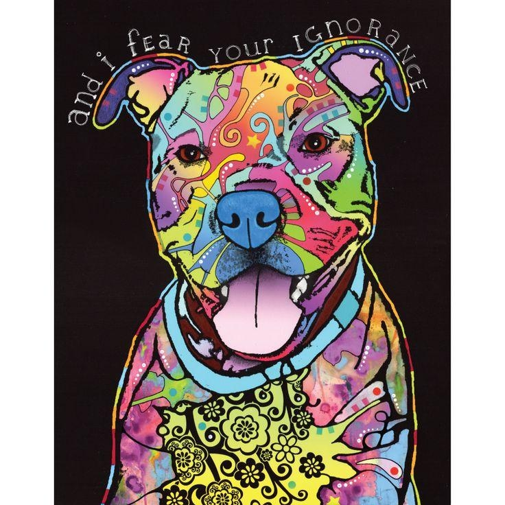 Best 25+ Pit Bull Tattoo Ideas On Pinterest | Are Pit Bulls Within Pitbull Wall Art (View 18 of 20)