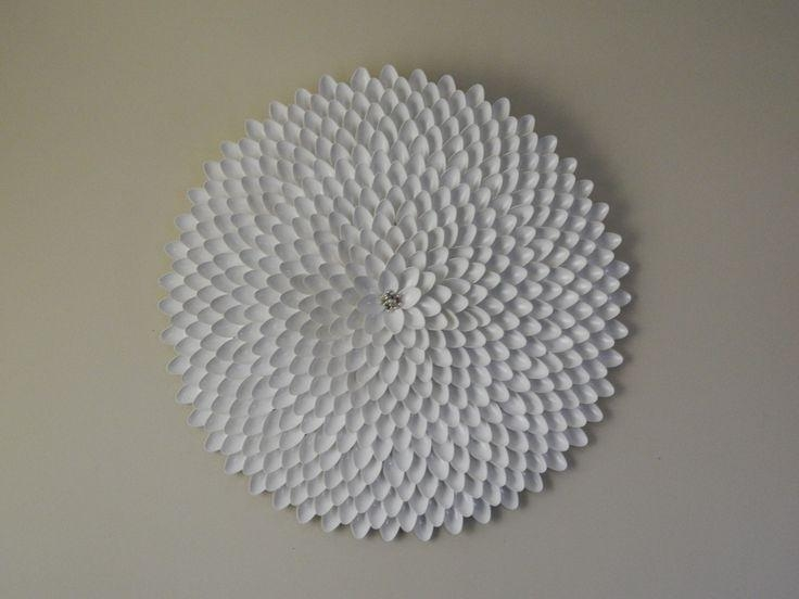 Best 25+ Plastic Spoon Art Ideas On Pinterest | Spoon Wreath Intended For Plastic Spoon Wall Art (View 7 of 20)