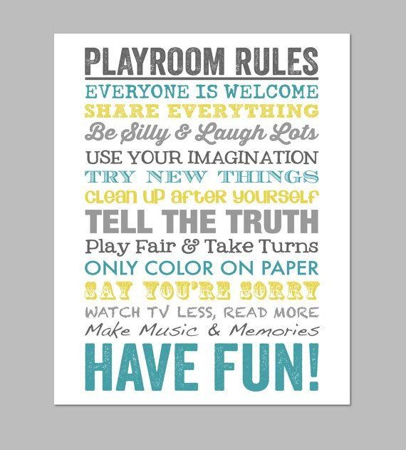 Best 25+ Playroom Rules Ideas On Pinterest | Playroom Decor For Playroom Rules Wall Art (View 5 of 20)