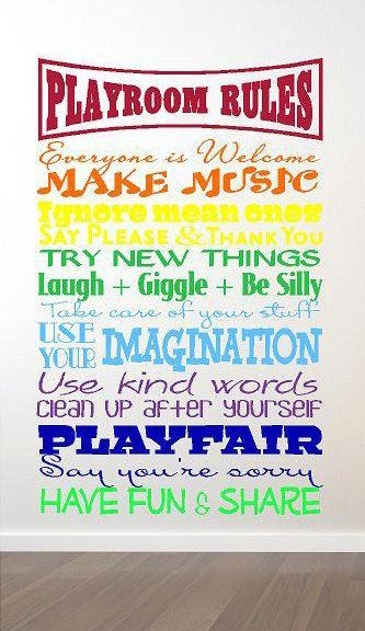Best 25+ Playroom Rules Ideas On Pinterest | Playroom Decor Pertaining To Playroom Rules Wall Art (View 9 of 20)
