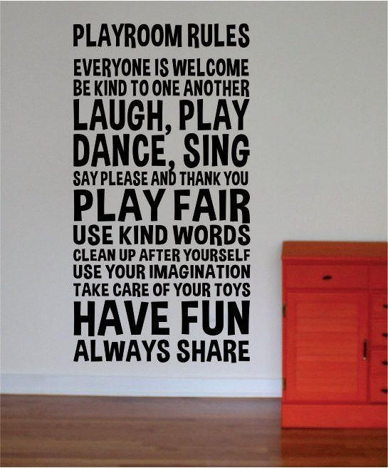 Best 25+ Playroom Rules Ideas On Pinterest | Playroom Decor Pertaining To Playroom Rules Wall Art (Image 7 of 20)