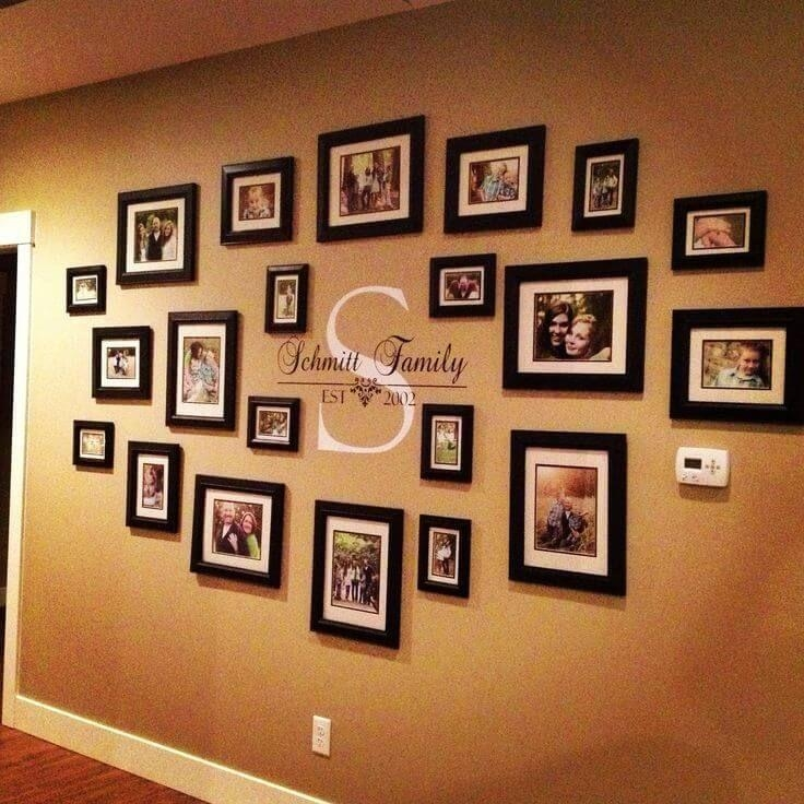 Best 25+ Portrait Wall Ideas On Pinterest | Canvas Collage, Thanks With Family Wall Art Picture Frames (Image 4 of 20)