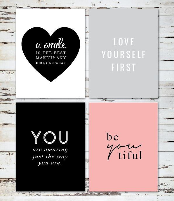 Best 25+ Printable Wall Art Ideas On Pinterest | Diy Framed Wall Within Inspirational Wall Art For Girls (Image 8 of 20)