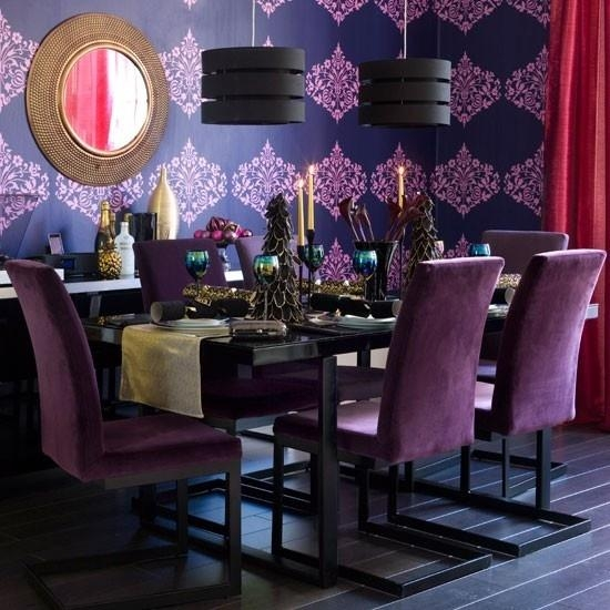 Best 25+ Purple Dining Rooms Ideas On Pinterest | Purple Dining Intended For 2018 Dining Tables And Purple Chairs (View 16 of 20)