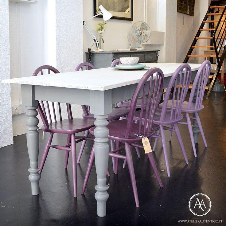 Best 25+ Purple Kitchen Furniture Ideas On Pinterest | Purple Intended For Latest Dining Tables And Purple Chairs (View 20 of 20)