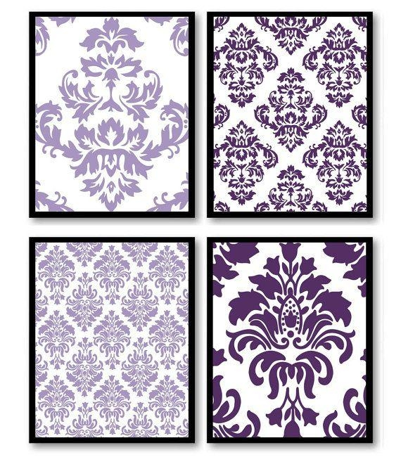 Best 25+ Purple Wall Art Ideas On Pinterest | Purple Printed Art Intended For Purple Wall Art For Bedroom (Image 5 of 20)