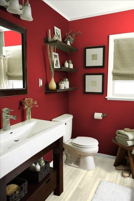 Best 25+ Red Bathrooms Ideas On Pinterest | Paint Ideas For For Red Bathroom Wall Art (Image 11 of 20)