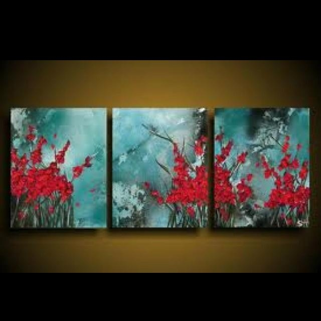 Best 25+ Red Wall Art Ideas On Pinterest | Wine Art, Kitchen Wine For Brown And Turquoise Wall Art (View 14 of 20)
