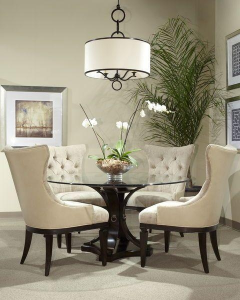 Best 25+ Round Dining Room Sets Ideas On Pinterest | Round Dining Regarding Most Popular Glasses Dining Tables (Image 13 of 20)