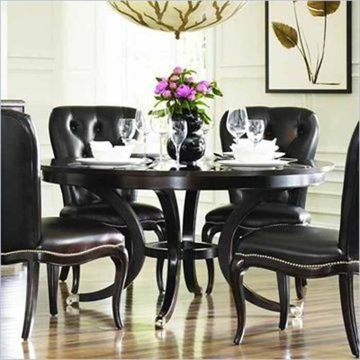 Best 25+ Round Dining Room Sets Ideas On Pinterest | Round Dining With Regard To 2018 Black Wood Dining Tables Sets (Image 10 of 20)