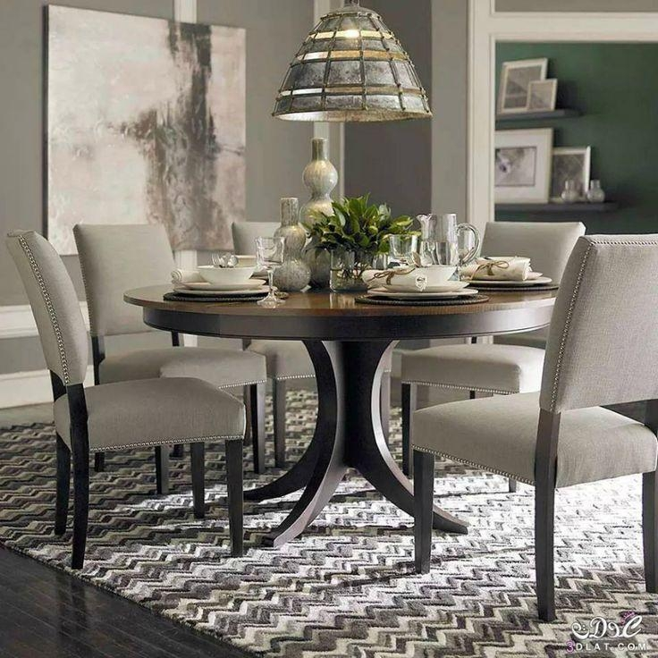 Best 25+ Round Pedestal Dining Table Ideas On Pinterest | Round Regarding 2017 Pedestal Dining Tables And Chairs (Image 10 of 20)