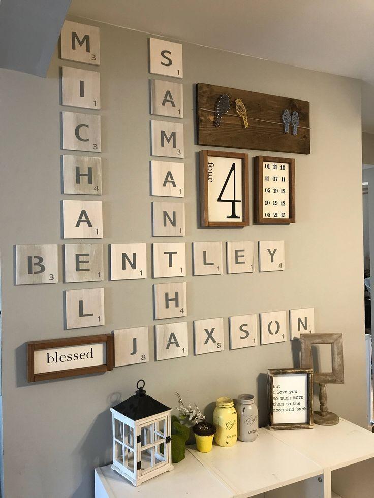 Best 25+ Scrabble Wall Art Ideas On Pinterest | Scrabble Wall In Scrabble Letter Wall Art (View 14 of 20)