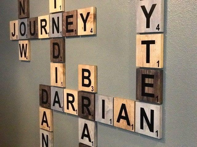 20 Ideas Of Scrabble Names Wall Art Wall Art Ideas