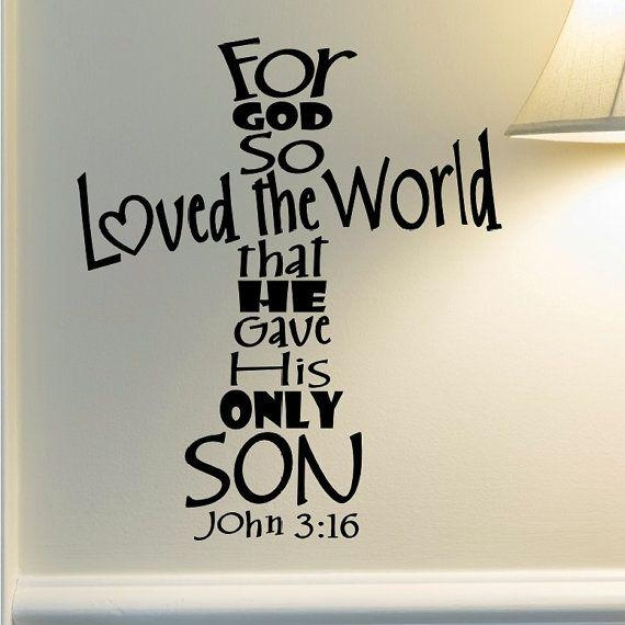 Best 25+ Scripture Wall Art Ideas On Pinterest | Christian Art Inside Christian Word Art For Walls (Image 11 of 20)