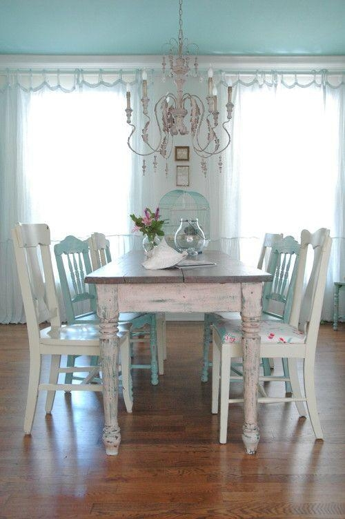 Best 25+ Shabby Chic Dining Ideas On Pinterest | Shabby Chic For Best And Newest Shabby Chic Dining Sets (Image 3 of 20)