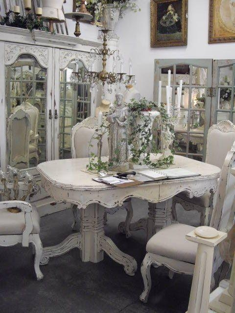 20 ideas of shabby chic dining sets dining room ideas. Black Bedroom Furniture Sets. Home Design Ideas
