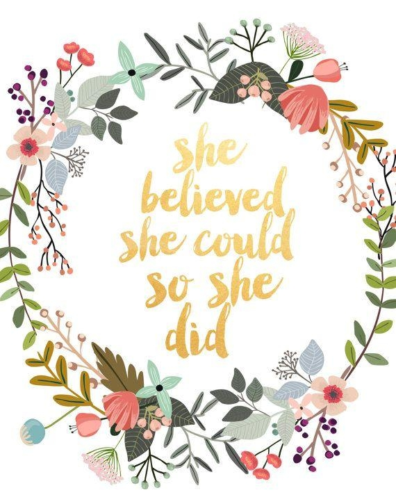 Best 25+ She Believed She Could Ideas On Pinterest | She Did With She Believed She Could So She Did Wall Art (Image 4 of 20)