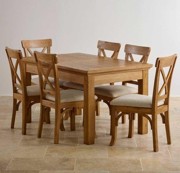 Oak Wood Table And Chairs: 20 Best Collection Of Light Oak Dining Tables And 6 Chairs