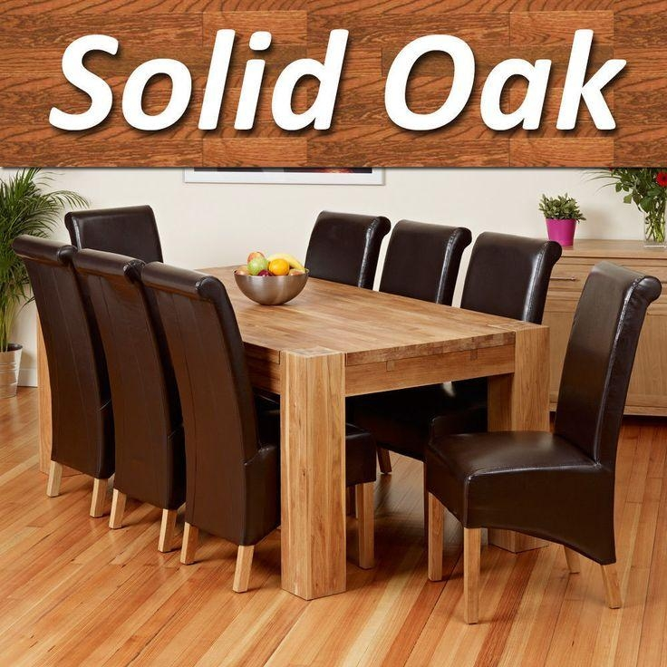 Best 25+ Solid Oak Dining Table Ideas On Pinterest | Wood Table In 2018 Oak Dining Tables And Leather Chairs (Image 3 of 20)