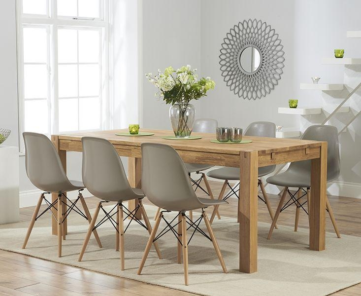 Best 25+ Solid Oak Dining Table Ideas On Pinterest | Wood Table Intended For Newest Dining Tables Chairs (Image 5 of 20)