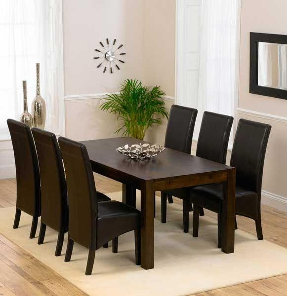Best 25+ Solid Oak Dining Table Ideas On Pinterest | Wood Table Throughout Most Recent Dark Wood Dining Tables 6 Chairs (Image 7 of 20)