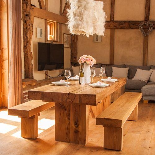 Best 25+ Solid Oak Dining Table Ideas On Pinterest | Wood Table Within 2017 Solid Oak Dining Tables (View 10 of 20)