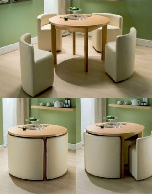Best 25+ Space Saving Dining Table Ideas On Pinterest | Space Within Compact Dining Tables And Chairs (Image 6 of 20)