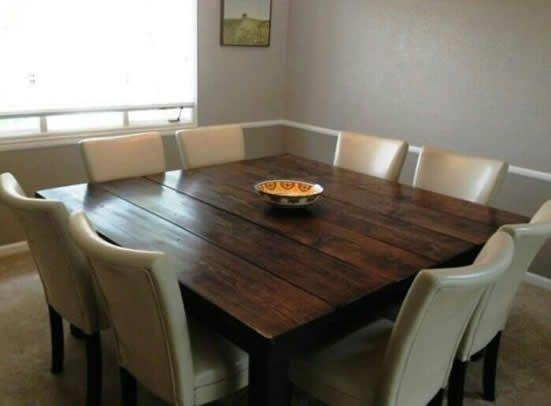 Best 25+ Square Dinning Room Table Ideas On Pinterest | Diy Within 2018 Dark Wood Square Dining Tables (Image 4 of 20)