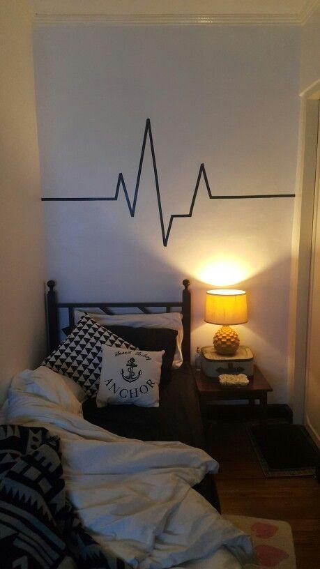 Best 25+ Tape Wall Art Ideas On Pinterest | Masking Tape Wall With Regard To Duct Tape Wall Art (Image 9 of 20)