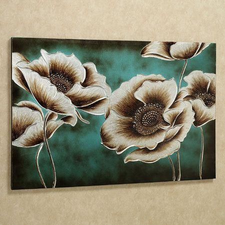 Best 25+ Teal Canvas Art Ideas On Pinterest | Flower Painting Within Wall Art Teal Colour (Image 8 of 20)