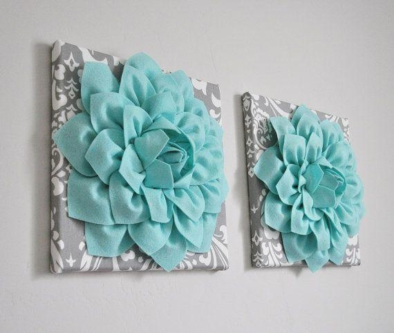 Best 25+ Teal Wall Art Ideas On Pinterest | Abstract Flowers Regarding Wall Art Teal Colour (Image 12 of 20)