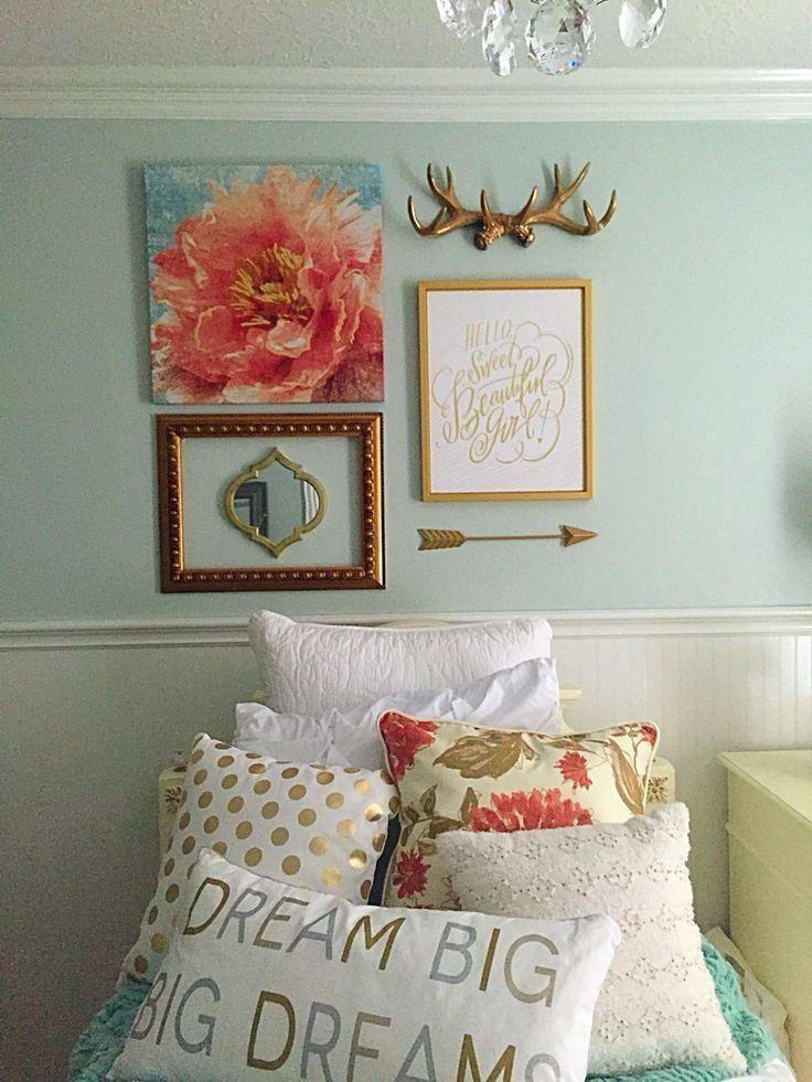 Best 25+ Teen Bedroom Mint Ideas On Pinterest | Teal Teen Bedrooms Within Wall Art For Teenage Girl Bedrooms (Image 7 of 20)