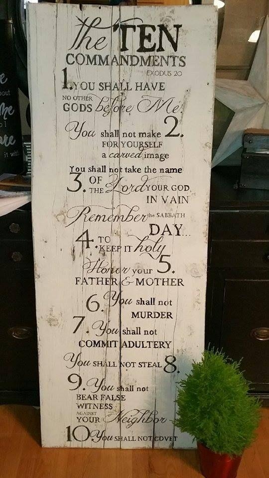 Best 25+ Ten Commandments Craft Ideas On Pinterest | 10 Intended For Ten Commandments Wall Art (View 8 of 20)