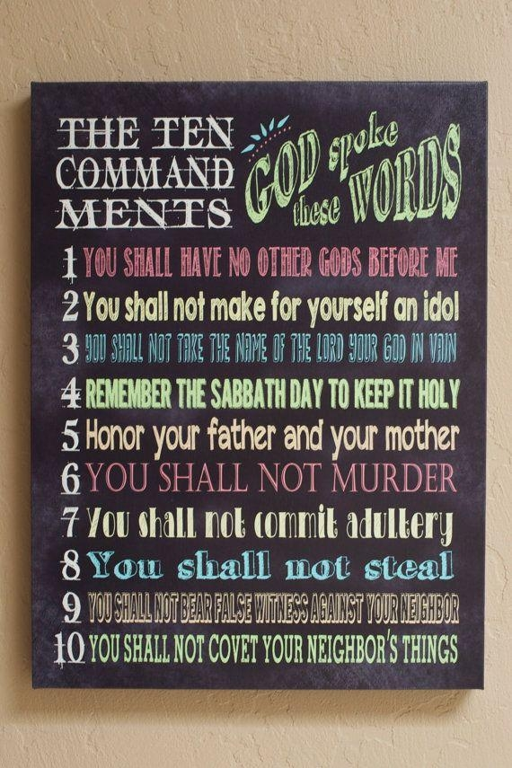 Best 25+ Ten Commandments Craft Ideas On Pinterest | 10 With Regard To Ten Commandments Wall Art (View 1 of 20)