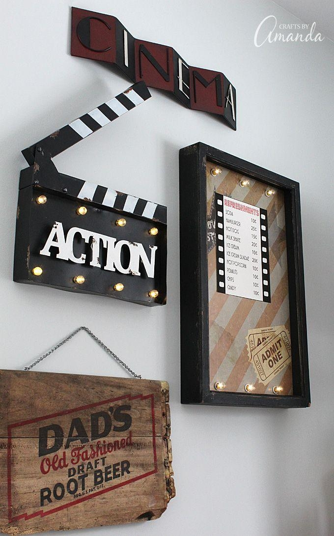 Best 25+ Theater Room Decor Ideas On Pinterest | Media Room Decor With Movie Themed Wall Art (View 2 of 20)