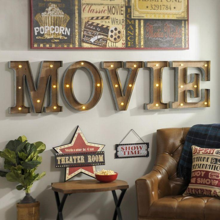 Best 25+ Theater Room Decor Ideas On Pinterest | Media Room Decor With Regard To Movie Themed Wall Art (Image 11 of 20)