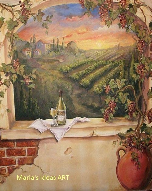 Best 25+ Tuscan Art Ideas On Pinterest | Oil Paintings, Acrylic With Regard To Italian Wine Wall Art (Image 9 of 20)