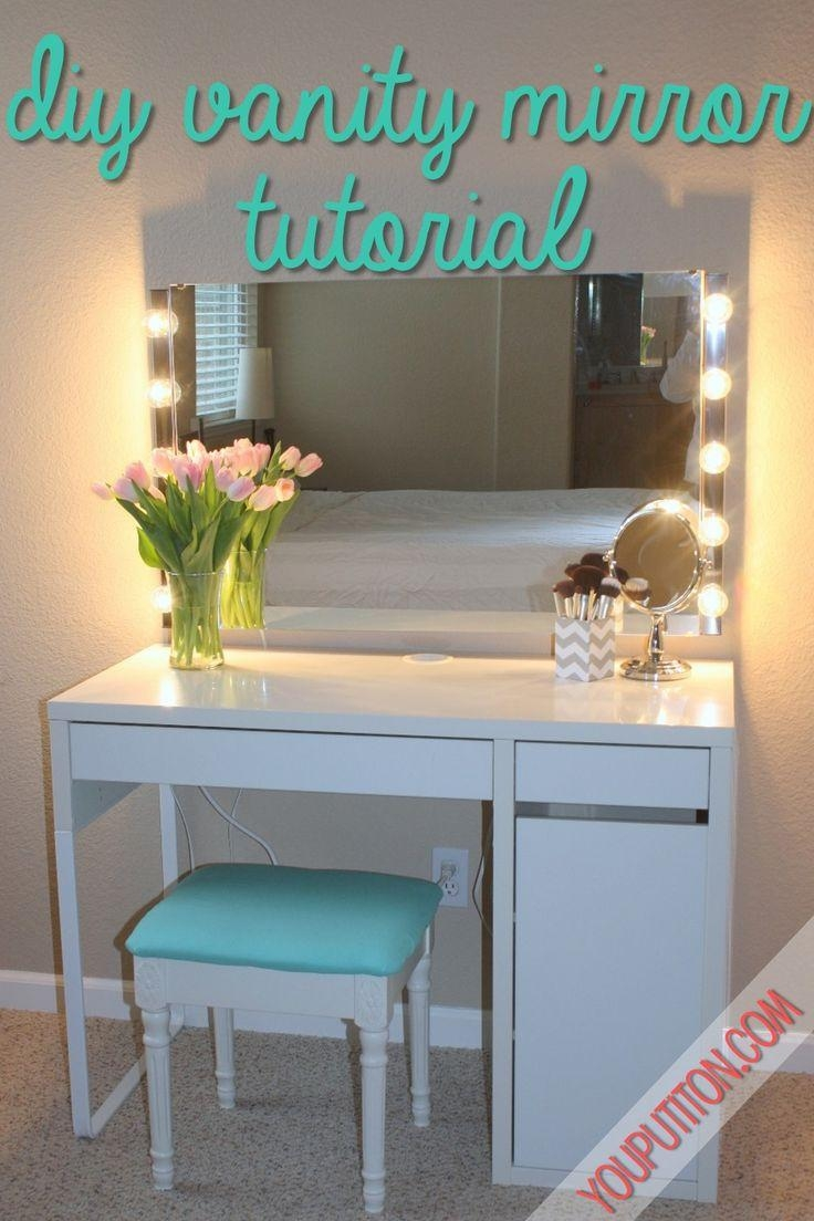Best 25+ Vanity Mirror Ikea Ideas On Pinterest | Vanity Lights Pertaining To Vanity Mirrors With Built In Lights (Image 15 of 20)