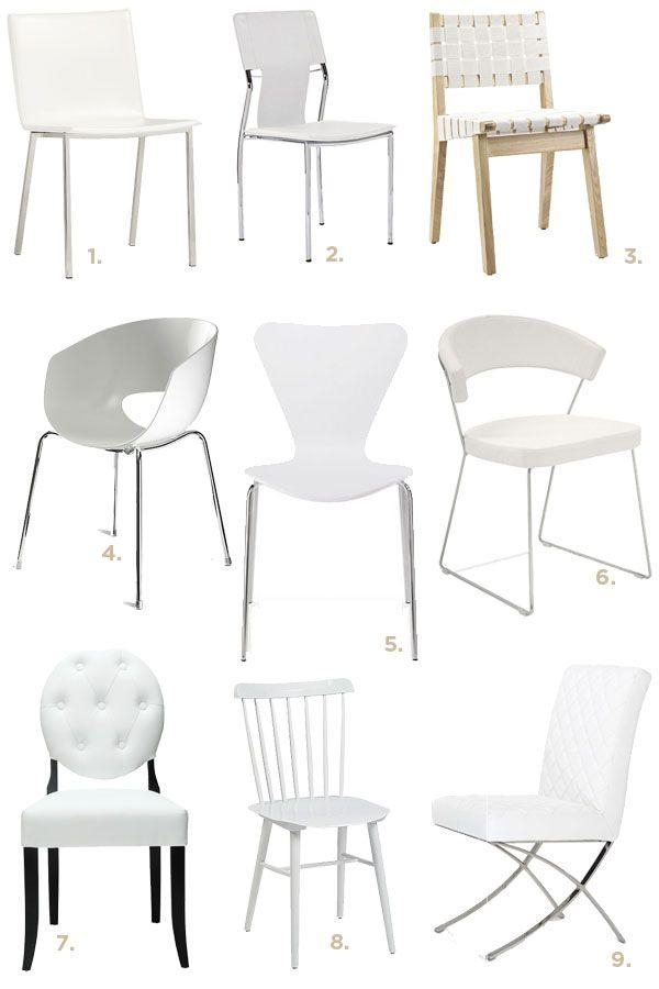 Best 25+ White Dining Chairs Ideas On Pinterest | Beach Style With Regard To Most Popular White Dining Chairs (Image 5 of 20)