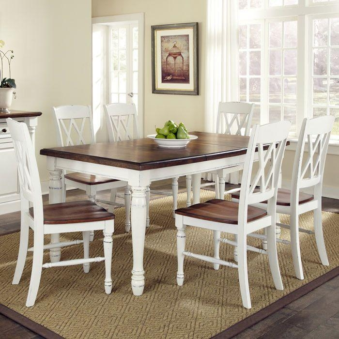 Best 25+ White Dining Set Ideas On Pinterest | White Kitchen Table Regarding Newest White Dining Tables Sets (Image 2 of 20)