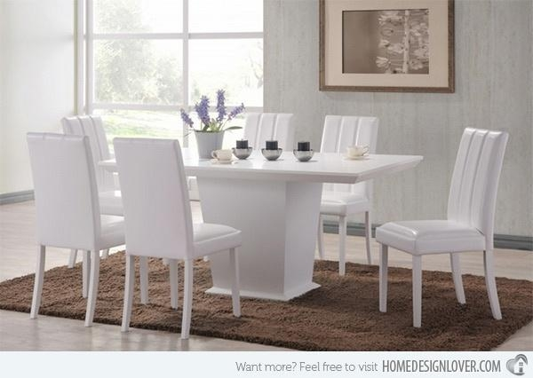 Best 25+ White Dining Set Ideas On Pinterest | White Kitchen Table With Regard To White Dining Sets (Image 7 of 20)
